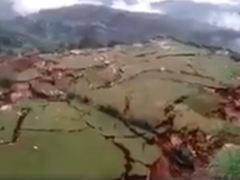 Earth Wide Open In Cuzco Peru- 60 Families Evacuated