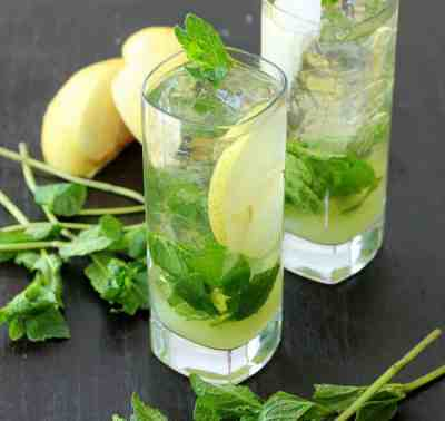 Iced Green Tea Mojito with Asian Pear Juice | How To Feed A Loon