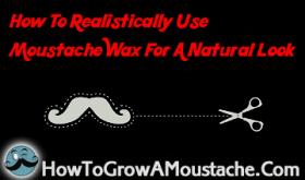 make moustache look natural, how to make a handlebar