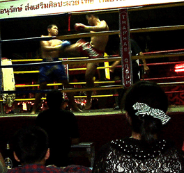 Kick Boxing Spectacle in Thailand