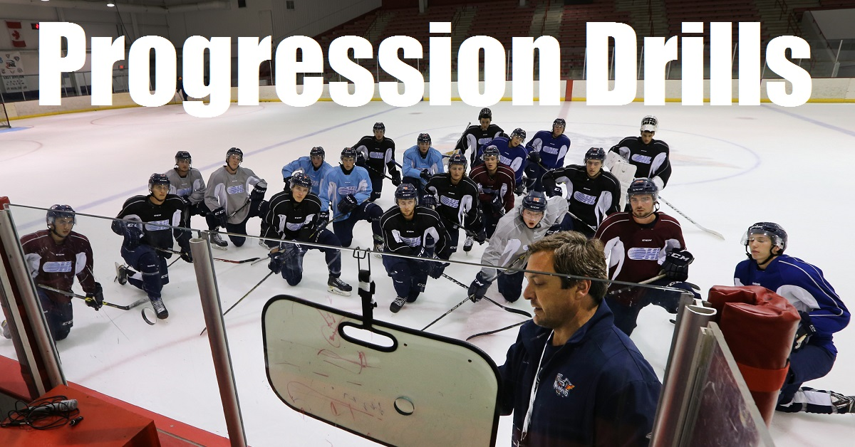 Progression Drills for Hockey Practice