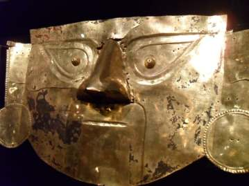Gold ceremonial mask