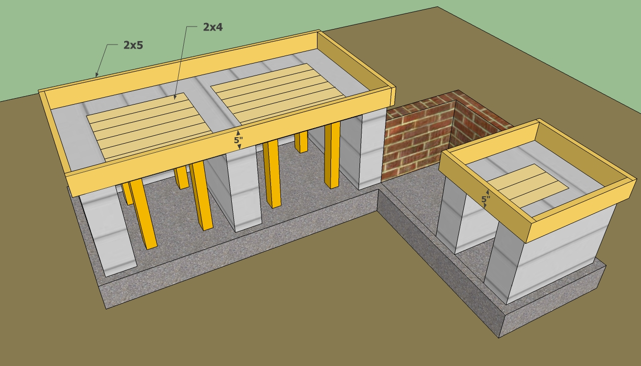 outdoor kitchen plans free outdoor kitchen ideas Countertop formwork