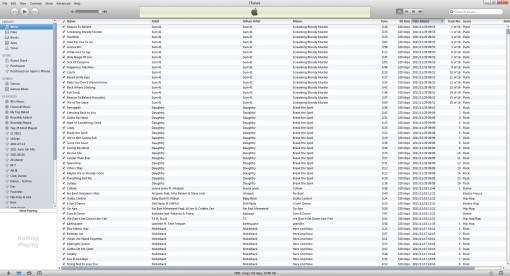 iTunes on first open