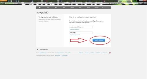 Fill In apple ID Details