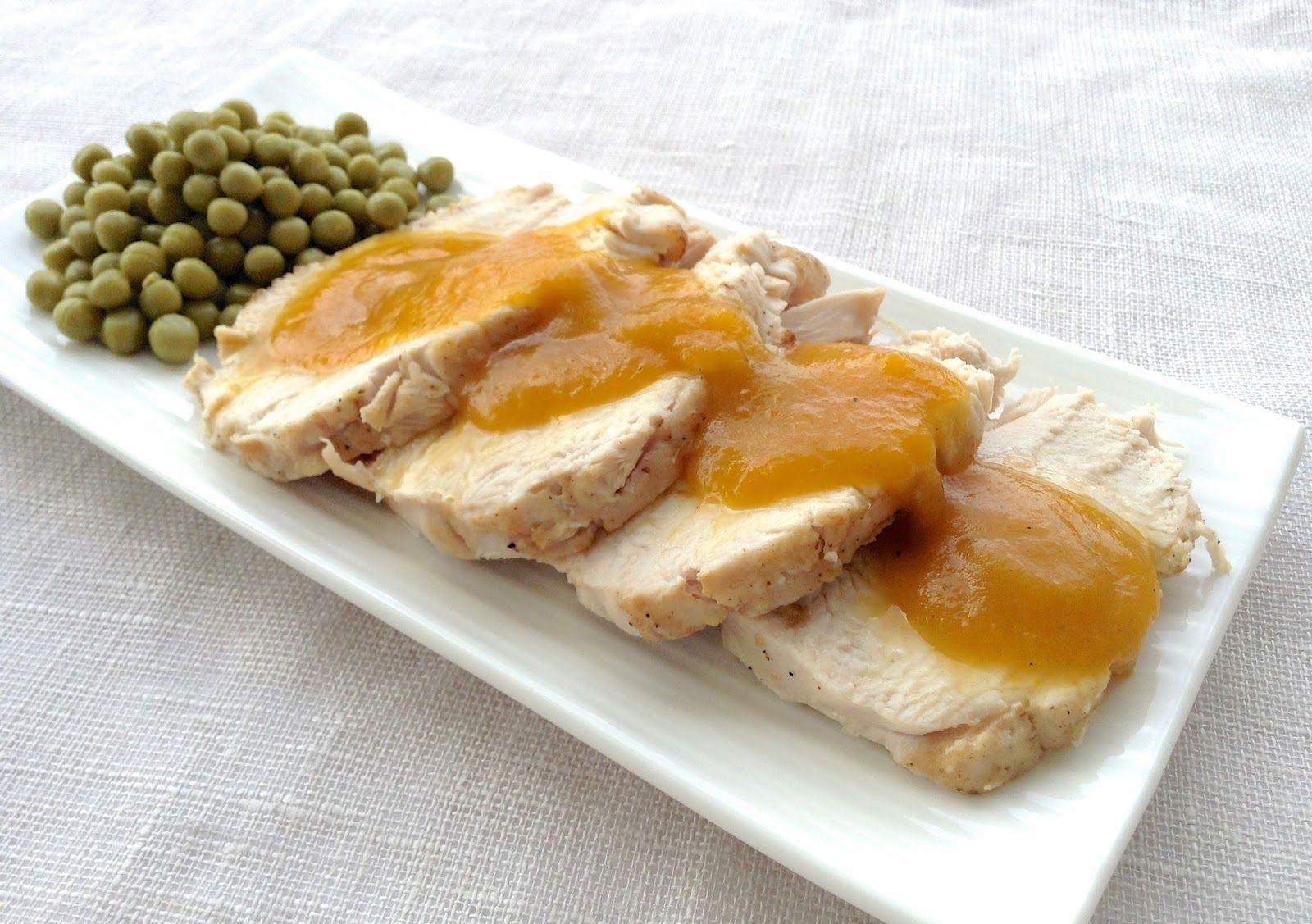 Pechuga de pavo con salsa de manzana y zanahoria hoy for Cocinar zanahorias