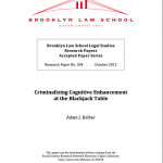 Must Read: Criminalizing Cognitive Enhancement at the Blackjack Table