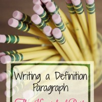 Writing a Definition Paragraph