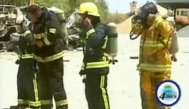 Fire-fighters Close-Quarters training exercise