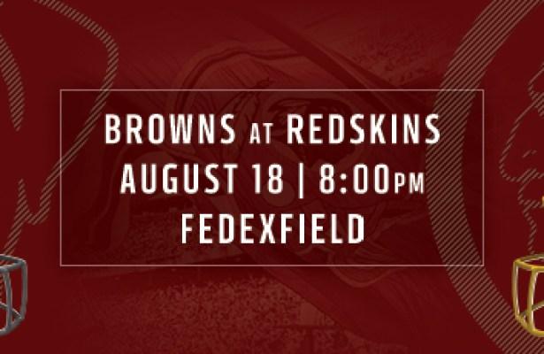 Redskins vs Browns Preseason Game 2 Preview