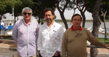 Gaspar Linares, Juanma González y Francisco Viera