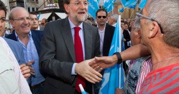 Mariano Rajoy, durante una de sus visitas a Huelva. (Foto: Julián Pérez)
