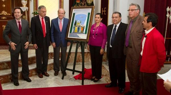Presentación del pregonero y del cartel de Emigrantes (Foto: Julián Pérez