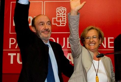 Pérez Rubalcaba y Petronila Guerrero. (Foto: Julián Pérez)