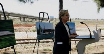 Guerrero explica sus proyectos de infraestructuras durante la campaña.