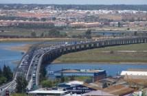 Imagen de archico del puente del Odiel entre Huelva y Aljaraque.