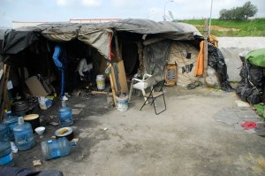 Asentamiento de inmigrantes. (Foto: Antonio Luis Delgado)
