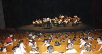 Uno de los conciertos escolares de la Banda Sinfónica Municipal