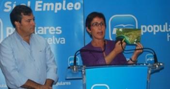 Francisco González y María Sacramento en rueda de prensa.