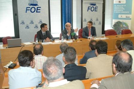 Inauguración de las jornadas en la FOE.
