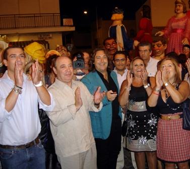 Encendido del alumbrado de las fiestas del Carmen en Isla Cristina.