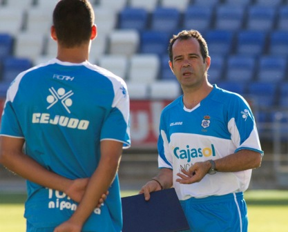 Álvaro Cervera durante un entrenamiento. (Julián Pérez)