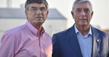 Julio Peguero y José Miguel De la Corte, director deportivo y presidente del Recreativo.