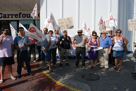 Protesta en Carrefour
