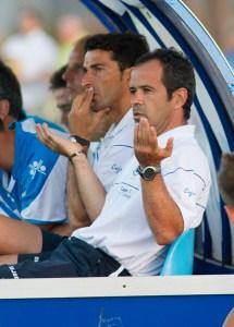 Álvaro Cervera, durante el partido Recreativo-Sevilla B disputado en Punta Umbría. (Julián Pérez)