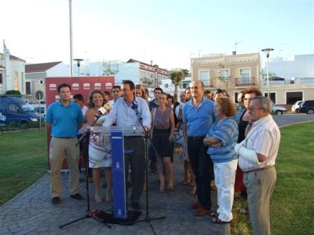 Inauguración de la plaza.