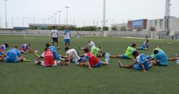Futbolistas del Recreativo B durante un entrenamiento. (Tenor)