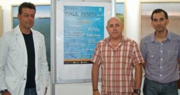 El director de Canal Costa, el concejal de Cultura y el secretario de Caritas Isla Cristina