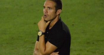 Tevenet, entrenador del San Roque de Lepe.