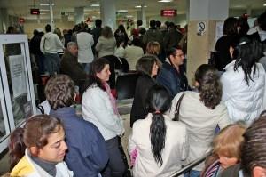 Imagen de archivo de una de las oficinas del SAE en Huelva.