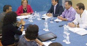 Reunión del equipo de gobierno en la Diputación.