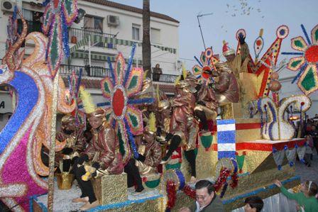 Cabalgata de los Reyes Magos en Cartaya.