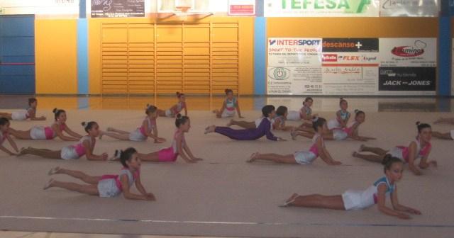 Exhibición de gimnasia rítmica en la provincia.