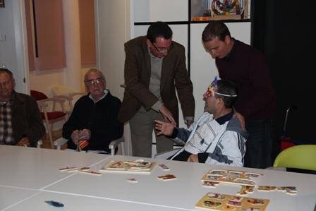 Manuel Andrés González en la visita que realizó.