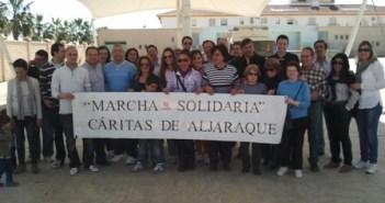 Marcha solidaria en Aljaraque.