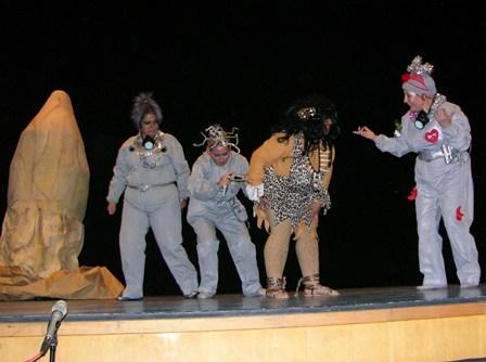 Representación de teatro en Moguer.