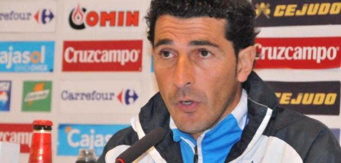Juanma Rodríguez, entrenador del Recreativo de Huelva. (J. Pérez)