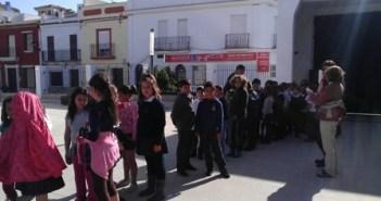 Visita de alumnos a la Ciudad de la Cultura de Almonte.