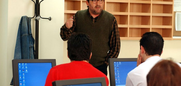 Antonio Manfredi, durante un curso sobre Periodismo Digital.