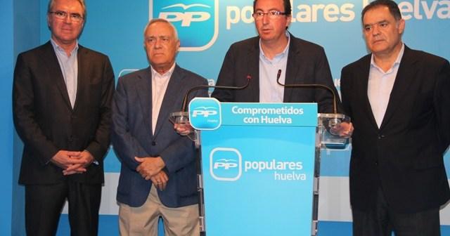 Responsables del PP en rueda de prensa.