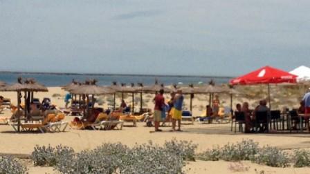 Detalle de la Playa Caminito Santana.