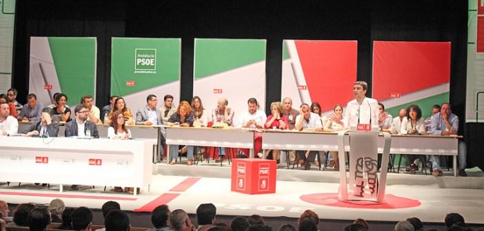Congreso provincial del PSOE celebrado en Cortegana.