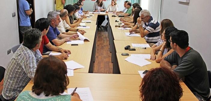 Reunión de dirigentes socialistas.