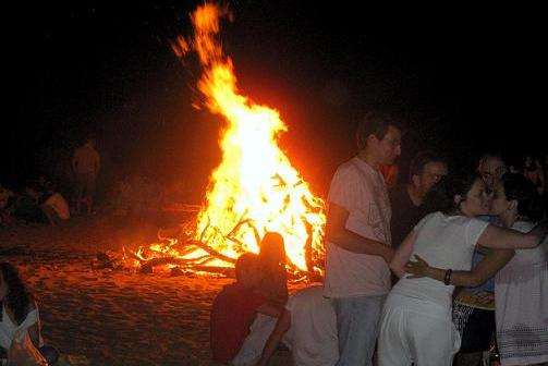 Noche de San Juan en Punta Umbría.