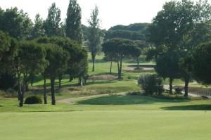 Hoyo nueve del Club de Golf de Bellavista.