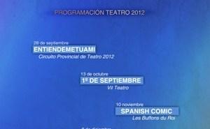 Cartel de la programación cultural en San Bartolomé.